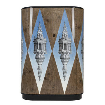 Fornasetti Curved cabinet Cuspide celeste