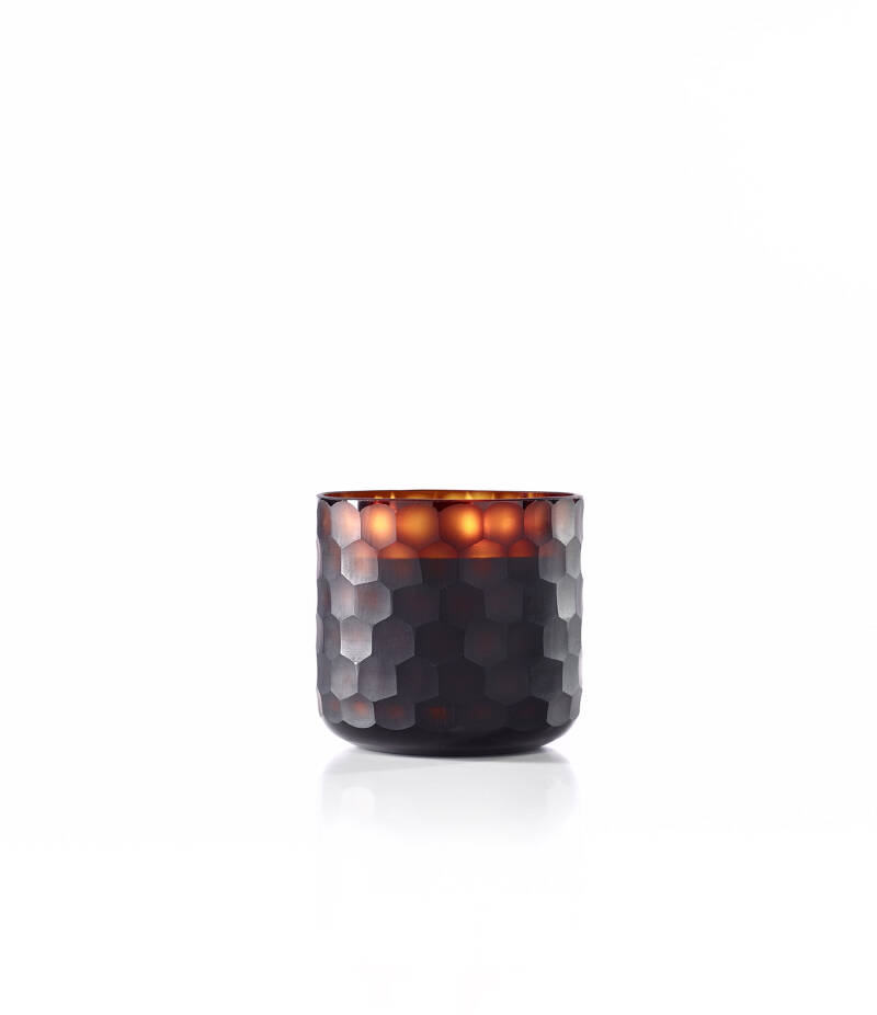 Onno Scented Candle Circle Amber, Ginger Fig, large Ø14,5xH15