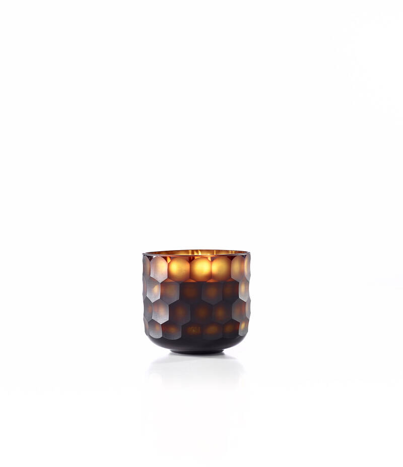 Onno Scented Candle Circle Amber, Ginger Fig, small Ø12xH11