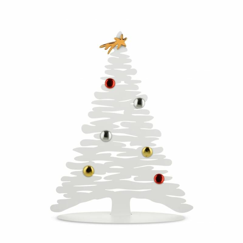 Alessi Bark ornament for Christmas small with magnets white