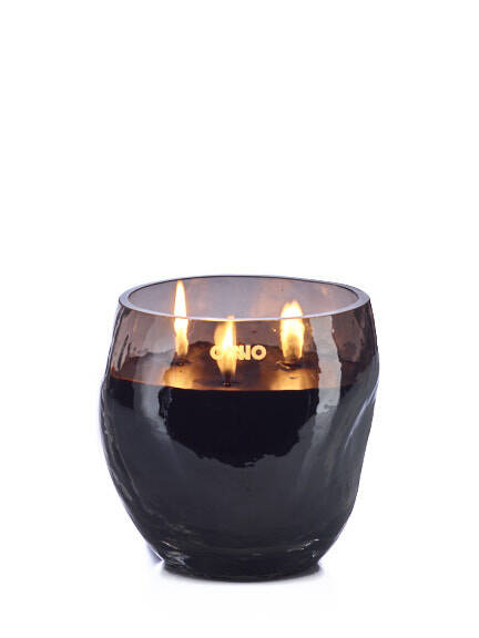 Onno Scented Candle Cape Smoke Grey, small Ø13xH13