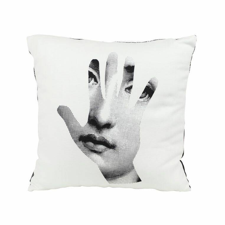 Fornasetti cushion mano