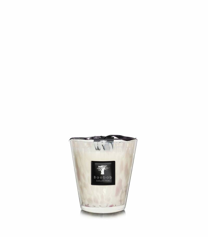 Baobab Scented Candle White pearls MAX16