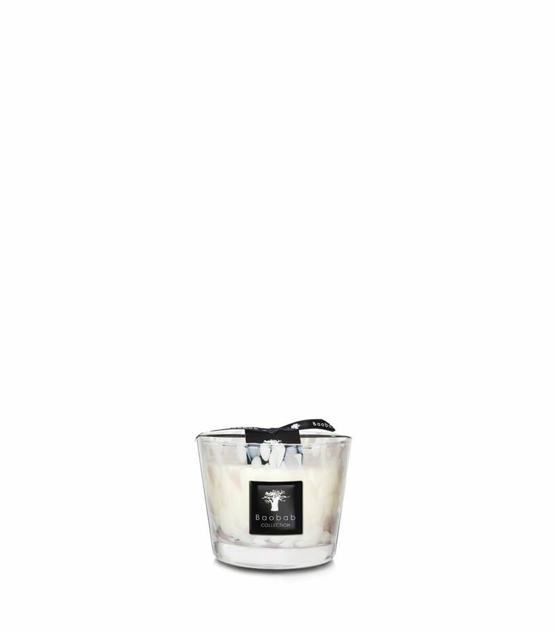 Baobab Scented Candle white pearls