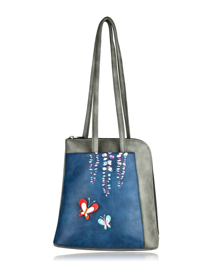 Spring backpack blauw