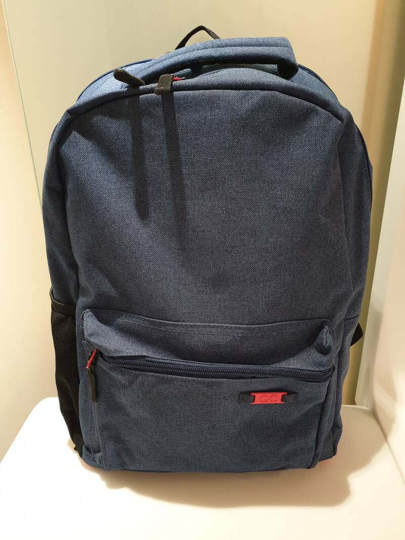 QC Bags 42cm Navy/Rosso - 5410574490766