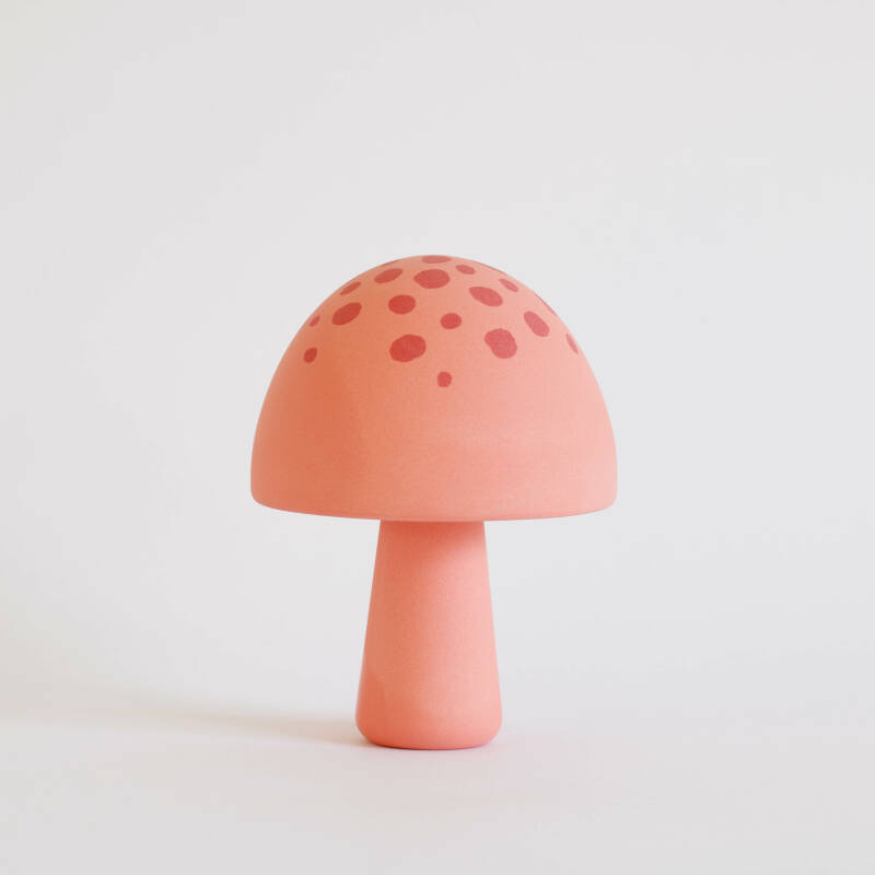 Mushroom pink with framboise dots