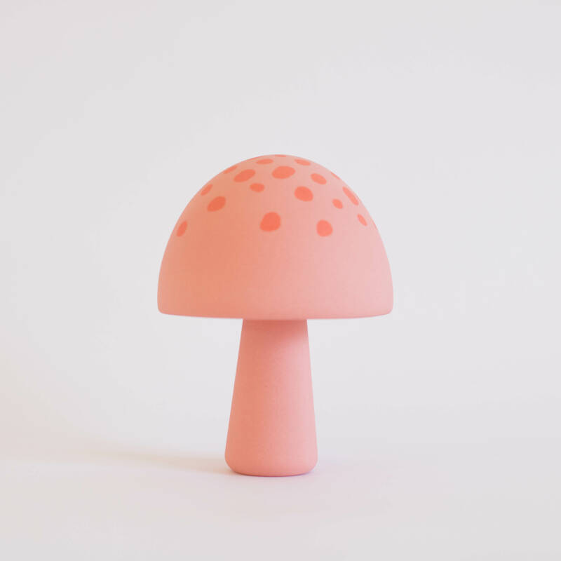 Mushroom pink with orange dots