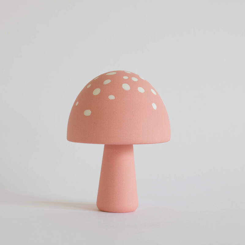 Mushroom pink with white dots
