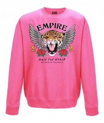 EMPIRE OVERSIZED SWEATER - CANDY PINK