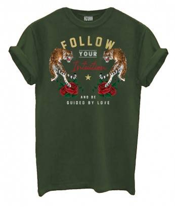 FOLLOW YOUR INTUITION (ROCK FIT) - OLIVE GREEN