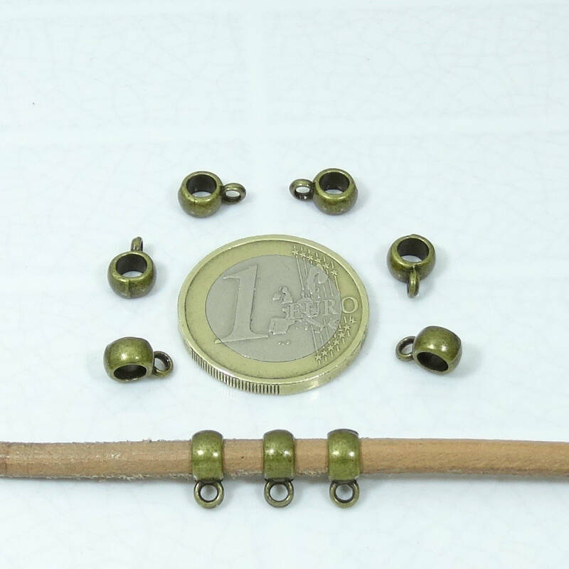 120 Enganches Cobre/Bronce 8x6mm T200
