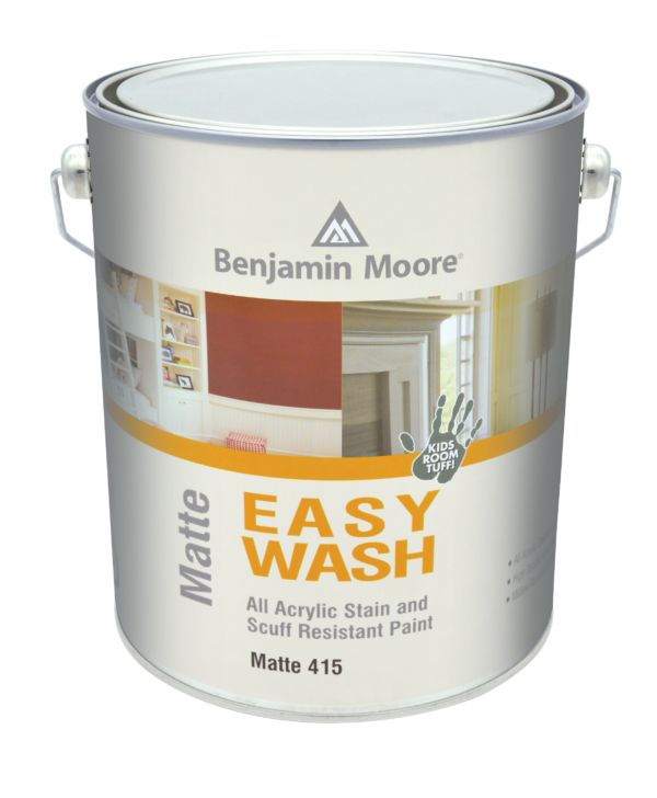 EASY WASH MATTE Stain/ Scuff Resistant Paint 415 Flat White