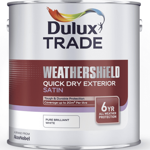 Dulux Trade Weathershield Quick Dry Exterior Satin Custom Mixed Colours