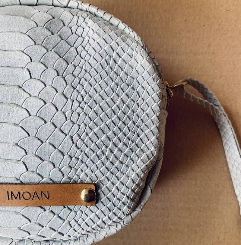 IMOAN clutch   White Rattle Snake (gold)