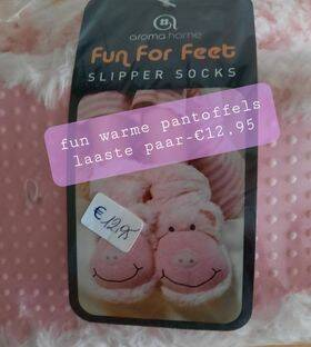 zeer warme sock slippers/fun for feet