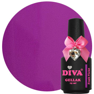 DIVA gellak Fresh Violet (color blocking collection)