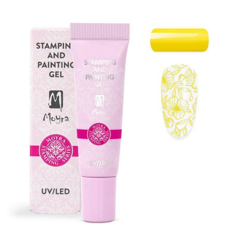 Moyra stamping and painting gel no. 02 yellow