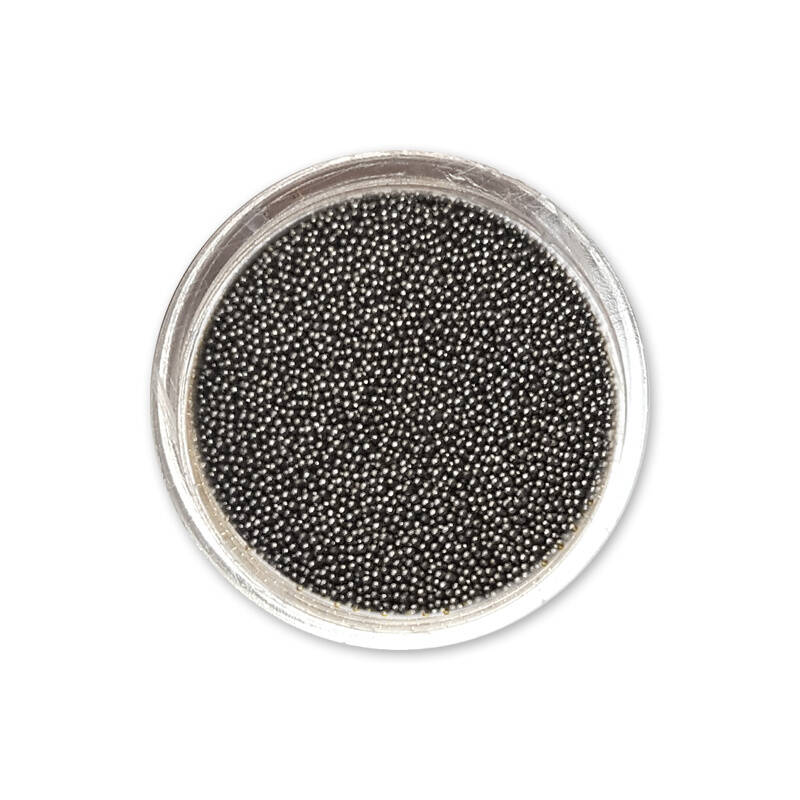 Moyra caviar beads no. 7 graphite 0,4mm