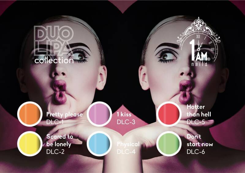 1AM MUSIC colorgel Duo Lipa collection + gratis surprise nail art