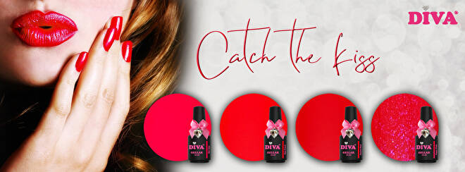 DIVA gellak Catch The Kiss collection incl. GRATIS pigment