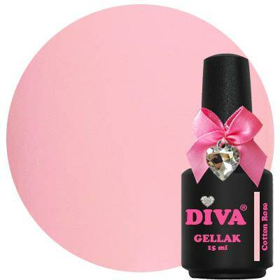 DIVA gellak Cotton Rose (kissed by a rose collection)
