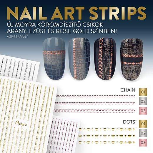 Moyra nail art strips dots 01 gold