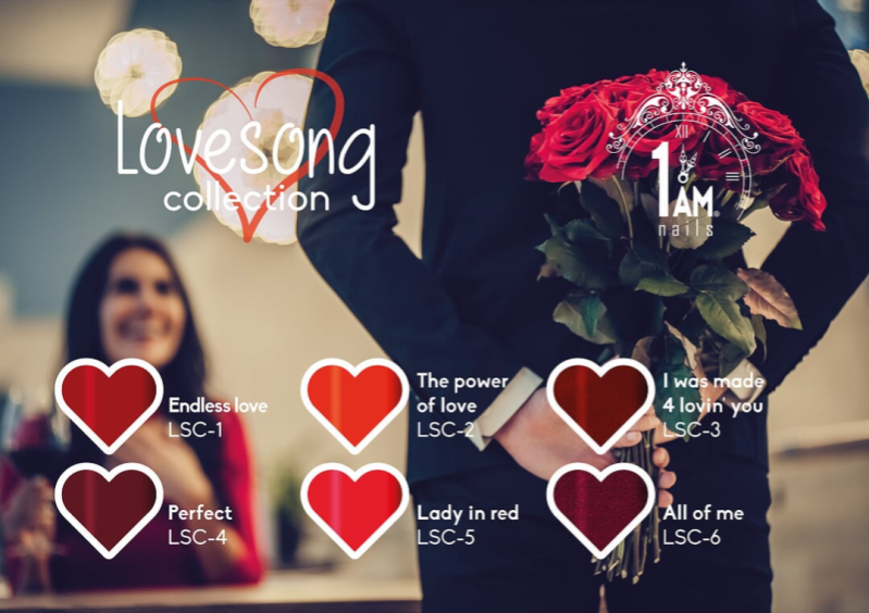1AM MUSIC LOVESONG COLLECTION + GRATIS NAGELRIEMOLIE