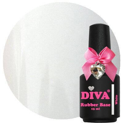 DIVA rubber base coat - white