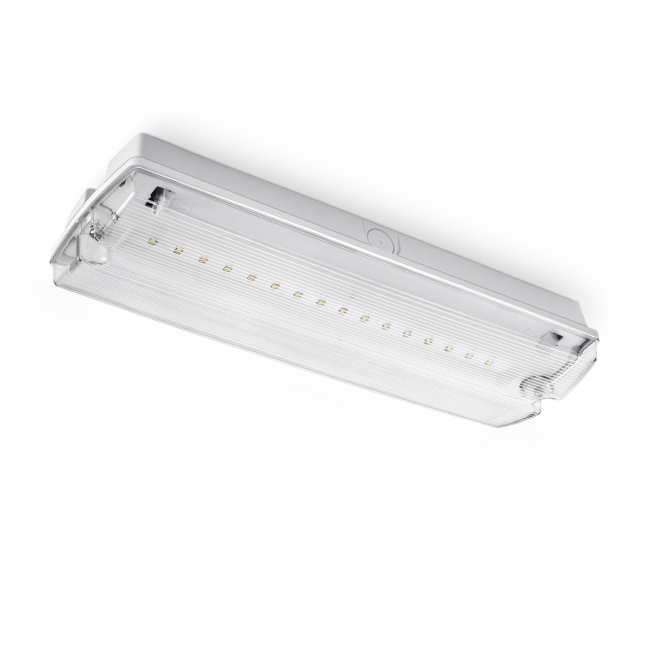 LED noodverlichting transparant (NF1) incl. vier richting pictogrammen en plafond inbouwframe