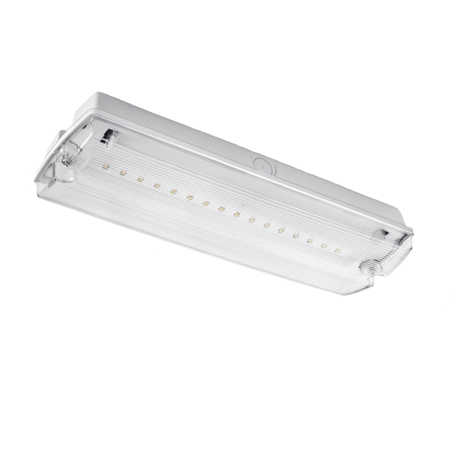 LED noodverlichting transparant (NF1)  inclusief plafondframe en richting pictogrammen