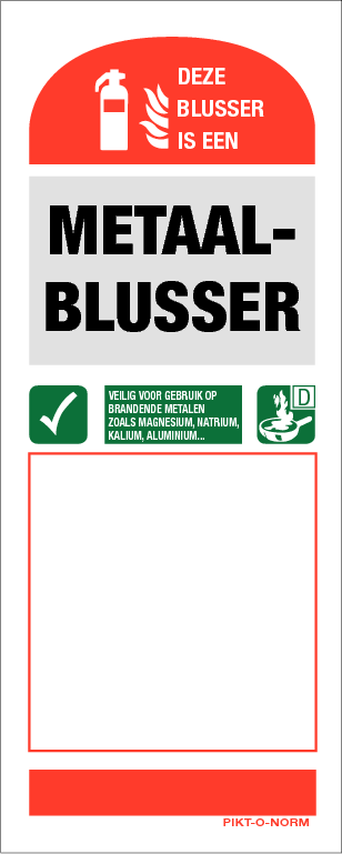 Instructie metaalblusser bord (80x200mm)