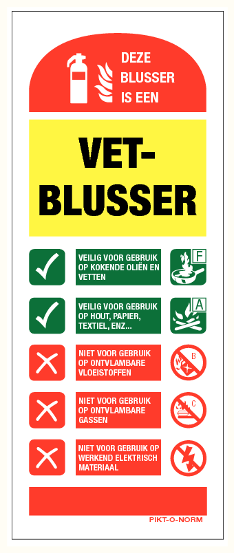 Pictogram Vetblusser
