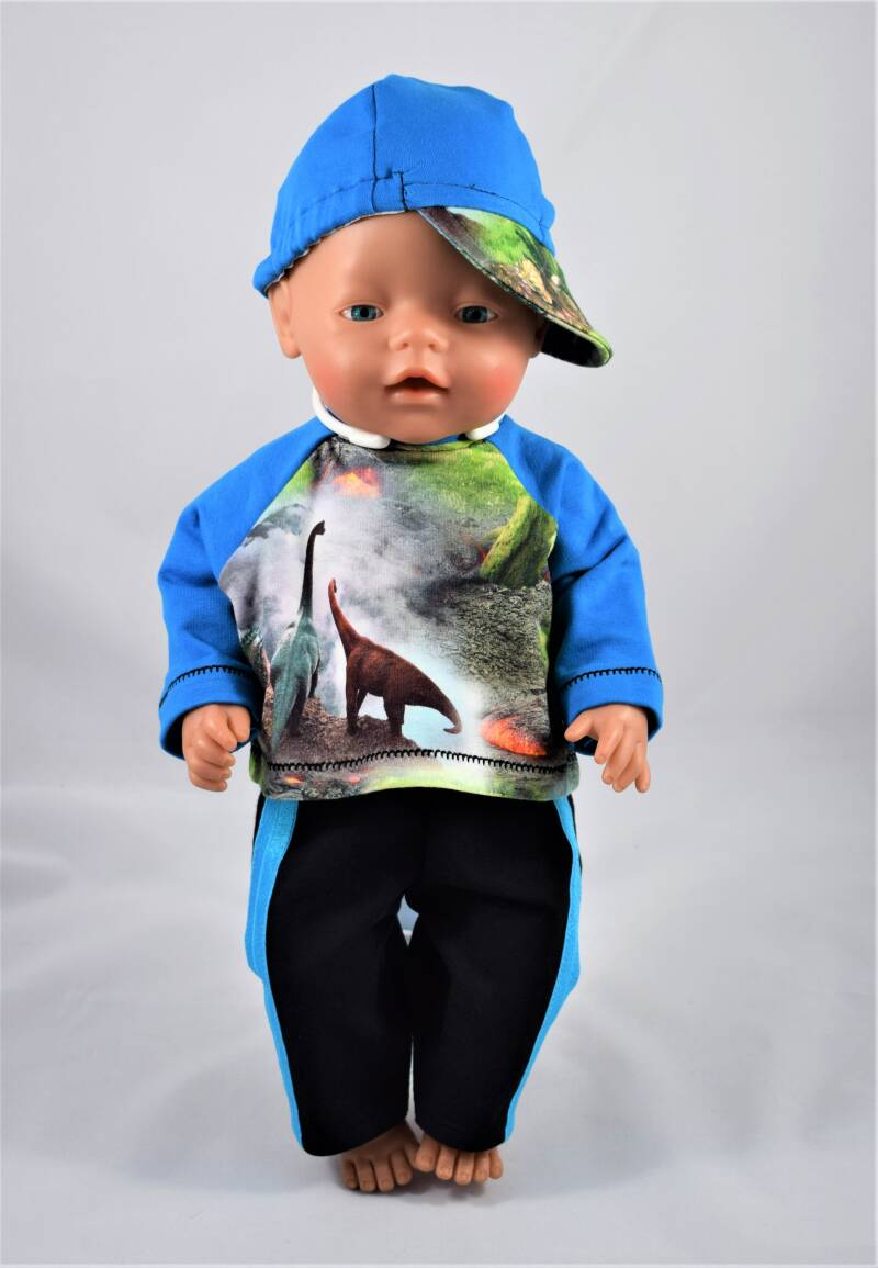 43680 Pet, shirt en broek Dino