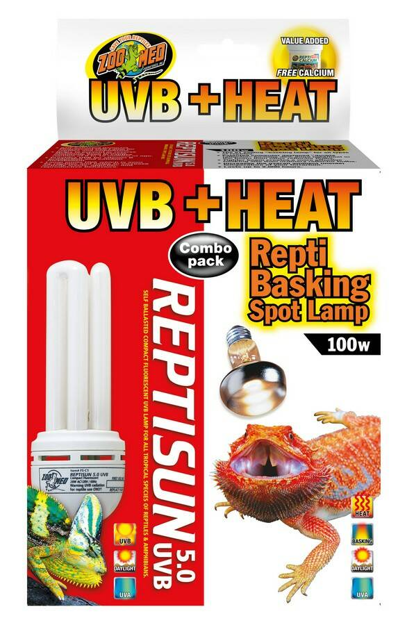 ZooMed, Heat & UVB Combo Pack