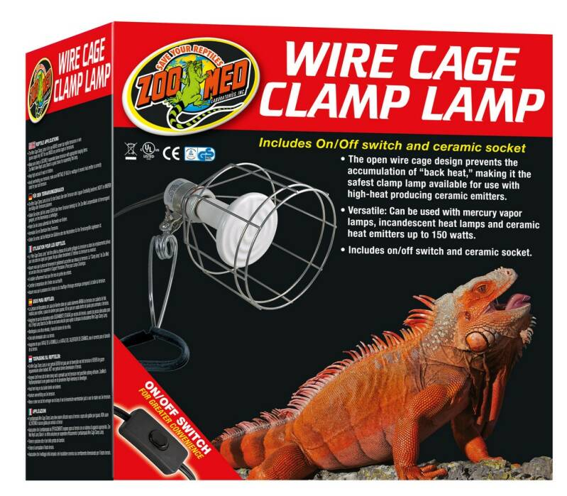 ZooMed Wire Cage Clamp Lamp LF-10EC