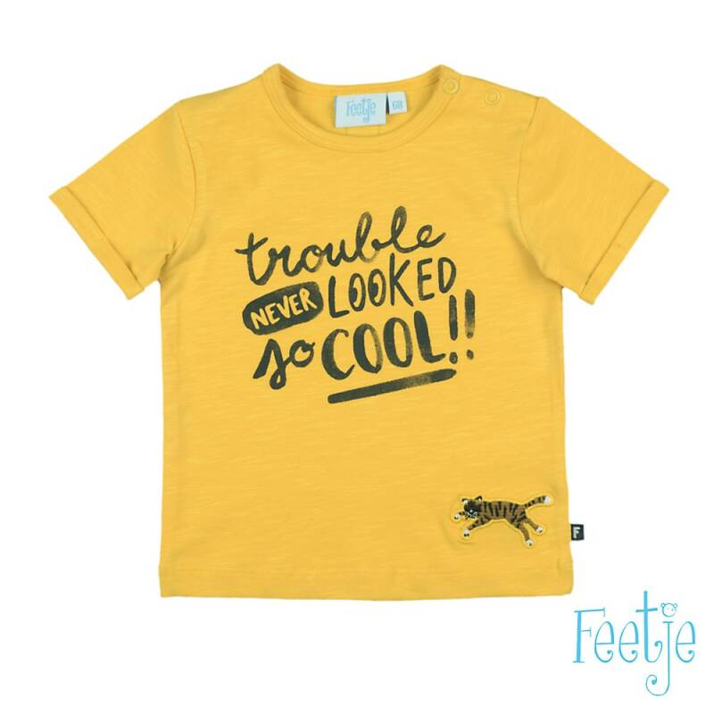 F  T-shirt Trouble Never Looked - Born To Be Wild