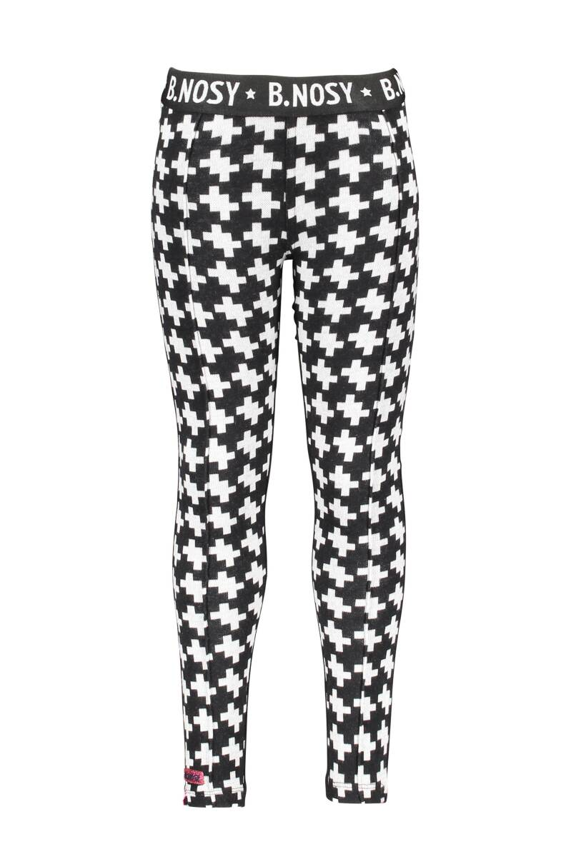 puzzle jaquard pants with solid backside