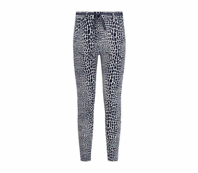 Chaos and Order Broek Suze Navy Print