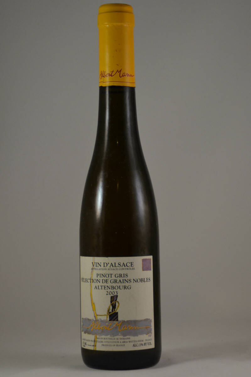 Albert Mann, Pinot Gris Grand Cru Grains Noble Altenbourg 2003 (0,375 l.)