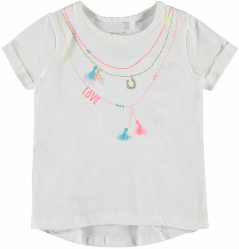 Name It | T-Shirt Ketting Wit