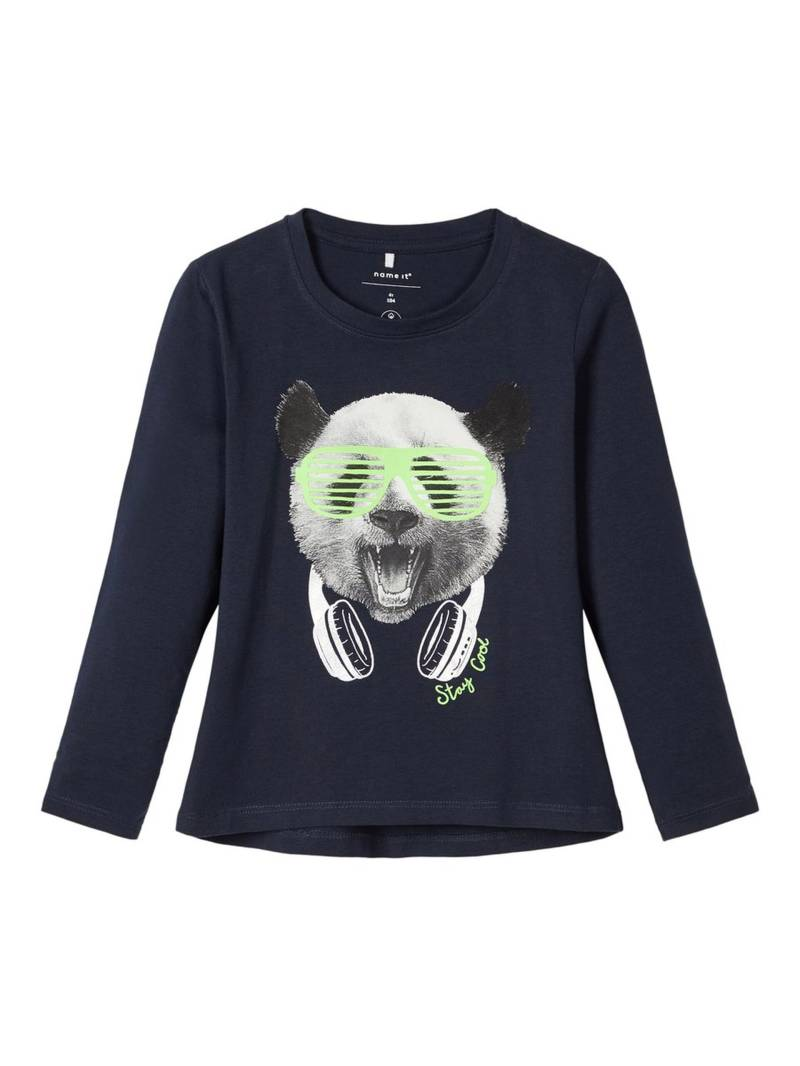 Name It | Longsleeve Panda Blauw