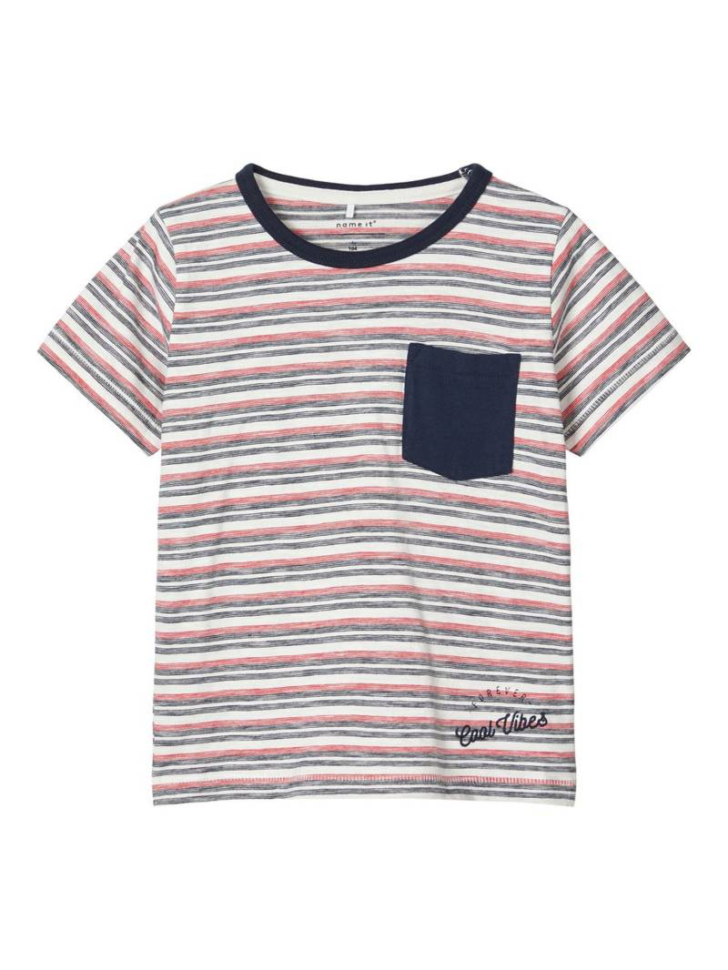 Name It | T-Shirt Gestreept Rood Dillon