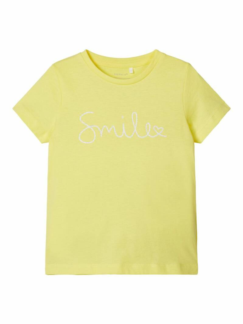 Name It | T-Shirt Hallu Smile Geel