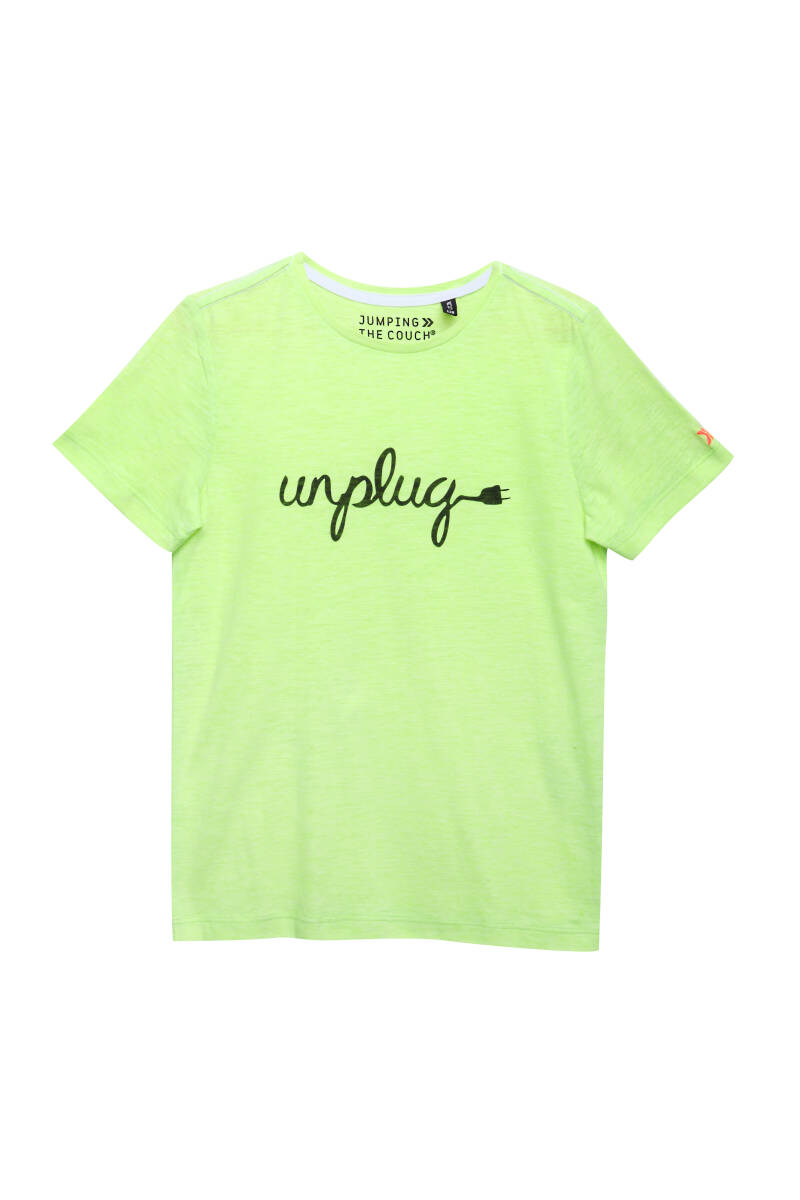 Jumping the Couch | T-Shirt Neon Geel Unplug