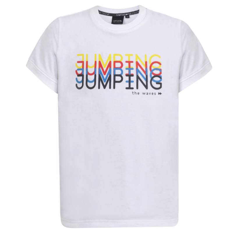 Jumping the Couch | T-shirt Wit Jumping