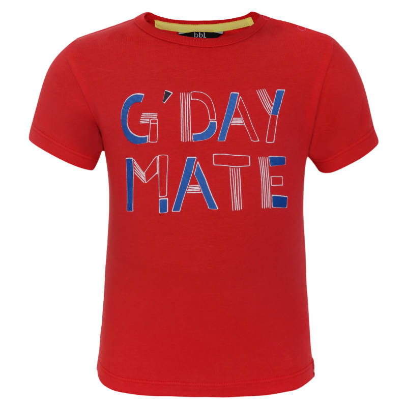 Beebielove | T-Shirt Rood G'Day Mate