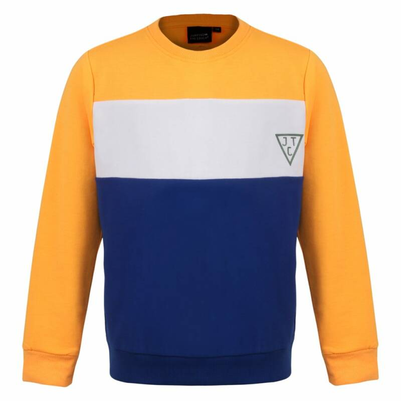 Jumping The Couch | Sweater Colorblock Oranje
