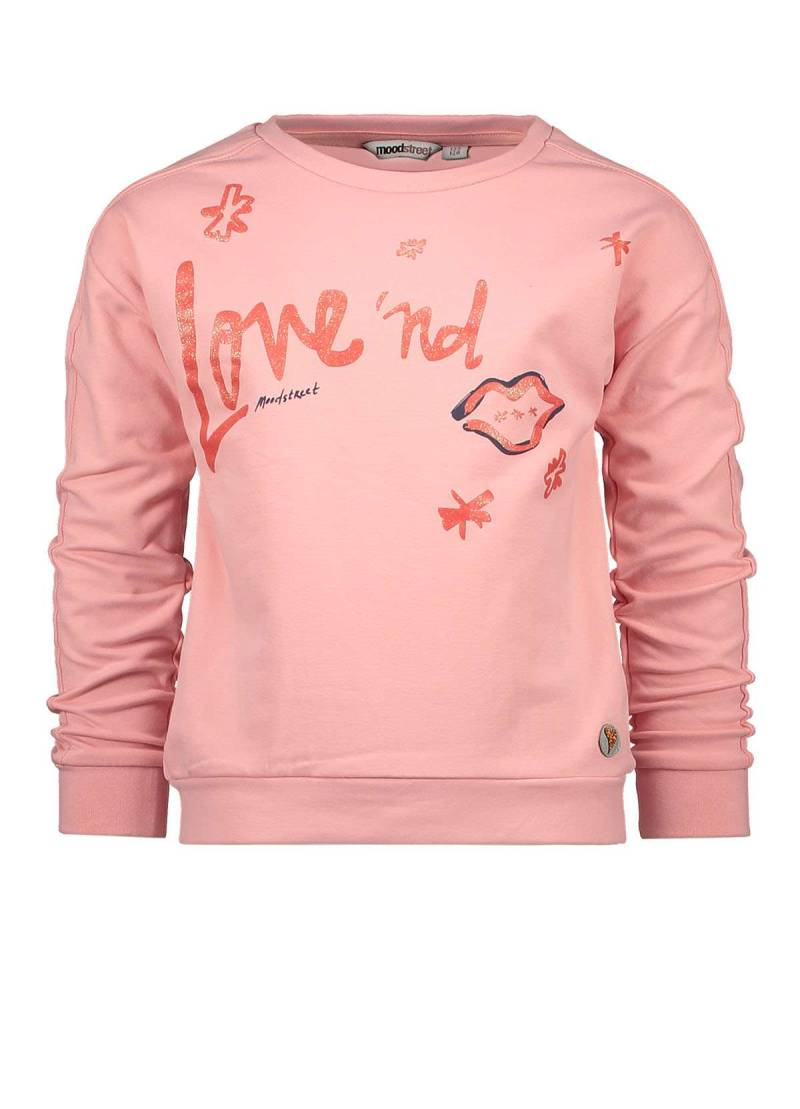 Moodstreet   Sweater Roze Love and Kisses