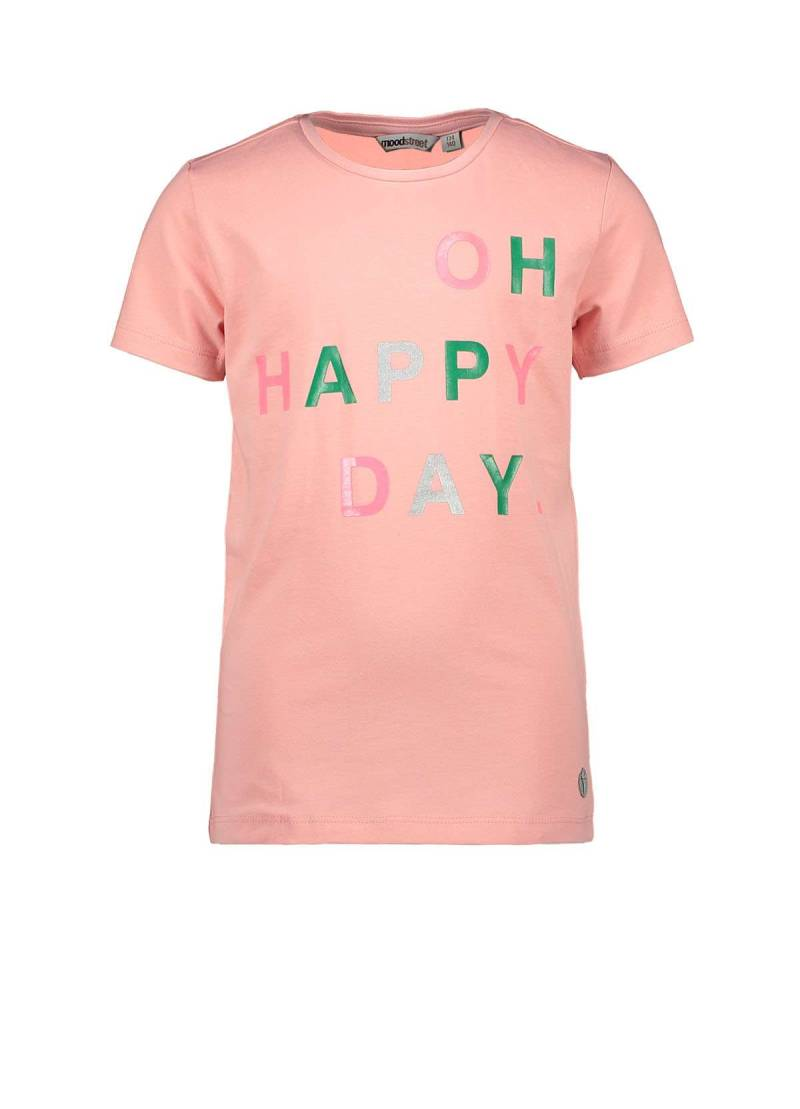 Moodstreet | T-Shirt Roze Happy Day